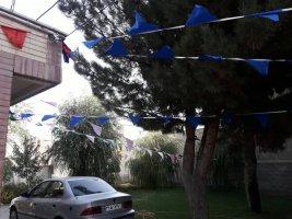 آذین بندی روستا های بخش مرکزی به مناسبت عید  سعید غدیر خم
