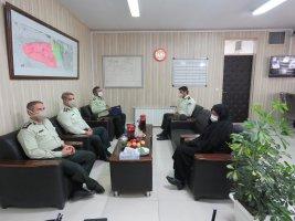دیدار فرماندهان نیروی انتظامی ملارد با بخشدار